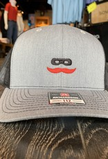 Stag GameDay Richardson 112 Trucker Hat Grey/Black Mustache