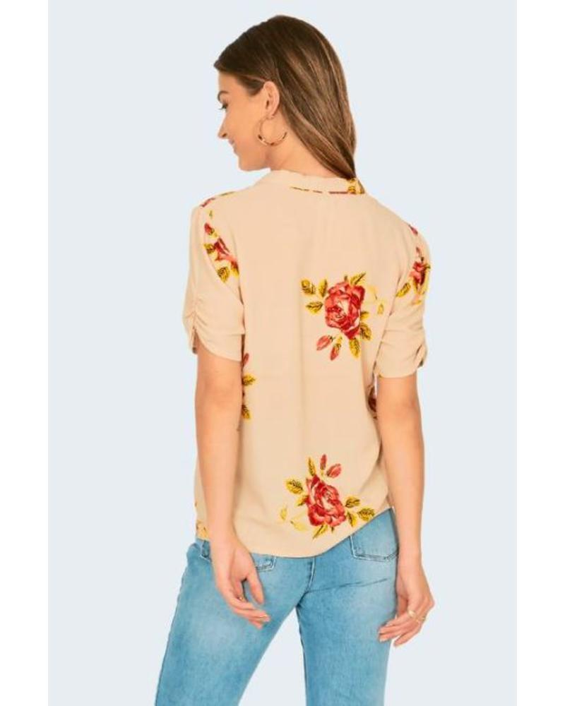 amuse society amuse society coming up roses blouse