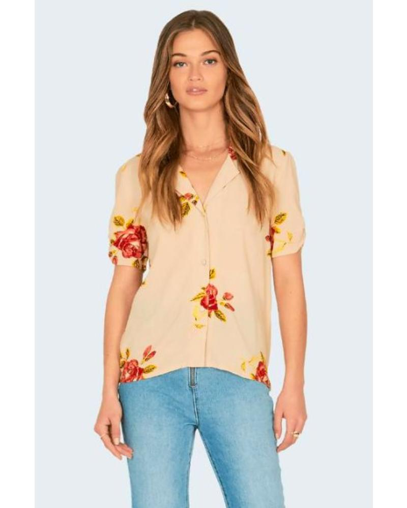 amuse society amuse society coming up roses blouse
