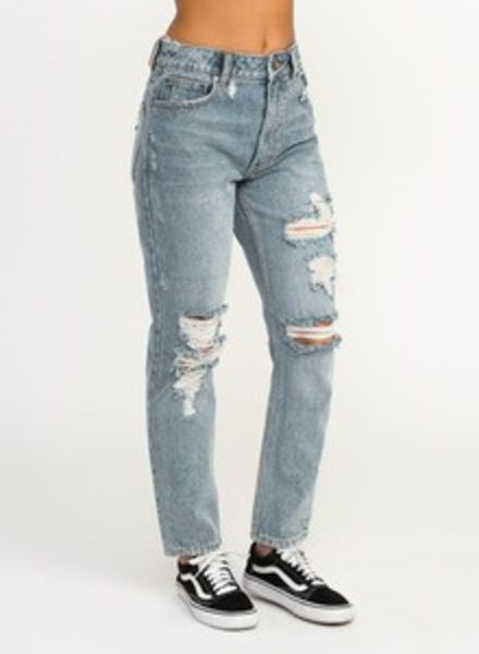 RVCA rvca piper high rise tapered denim jean