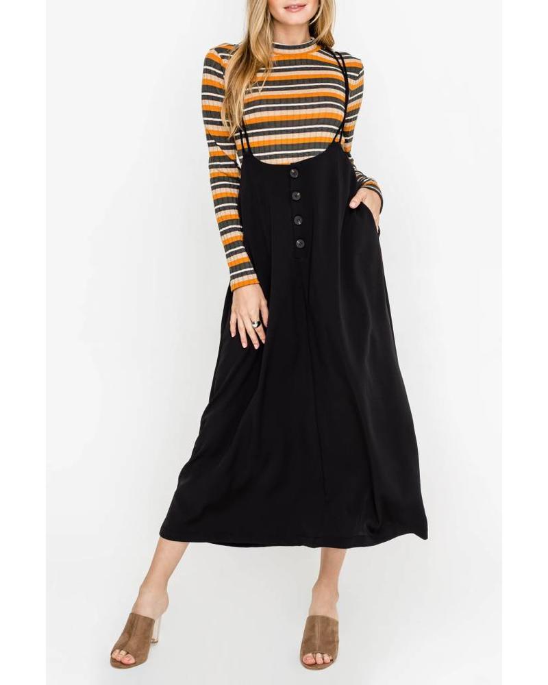 lush lush fletcher overall skirt