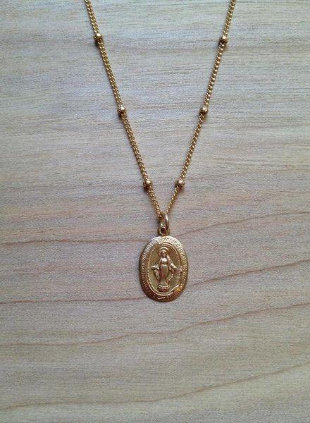 bunnies in la virgin mary necklace