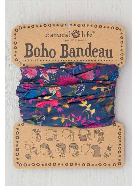 natural life navy wildflowers bandeau