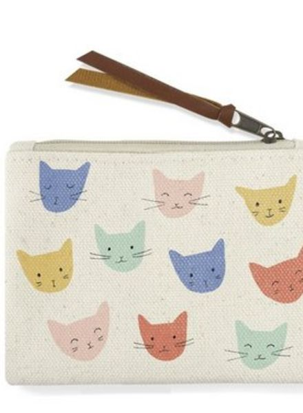fringe studio cat heads coin pouch