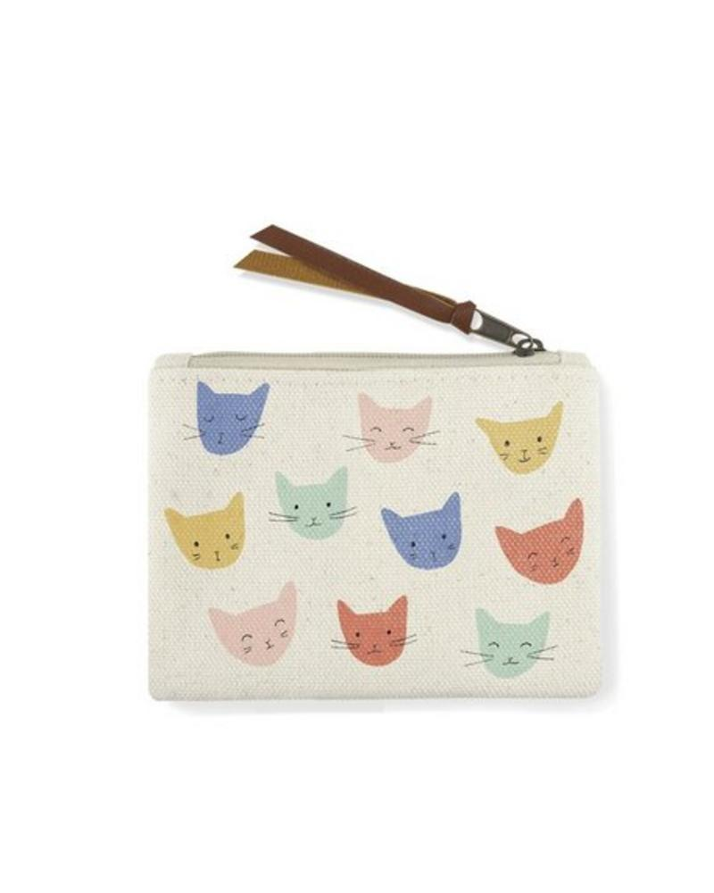 fringe studio fringe cat heads coin pouch