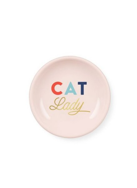 fringe studio cat lady mini round tray