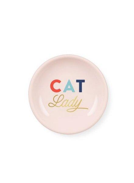 fringe studio cat lady mini round tray