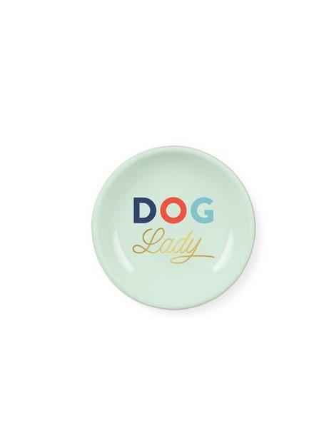 fringe studio dog lady mini round tray