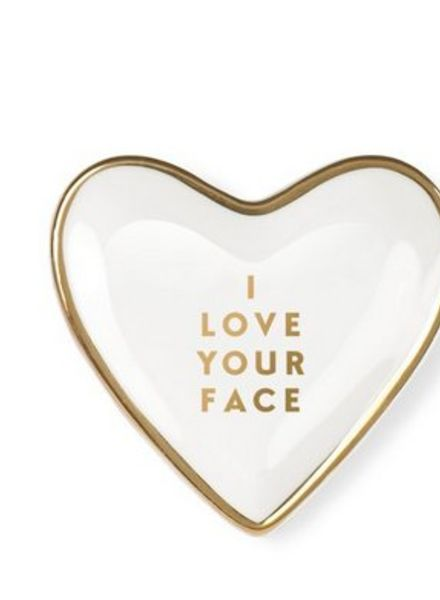 fringe studio love face heart tray
