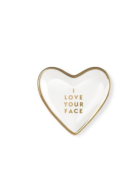 fringe studio love face heart tray