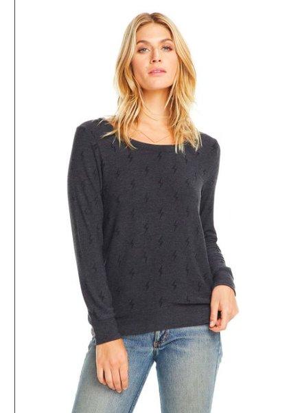 chaser cozy knit l/s