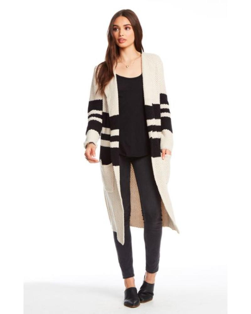 chaser chaser striped open duster
