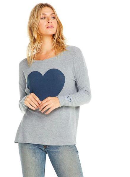 chaser cozy knit l/s drop shoulder