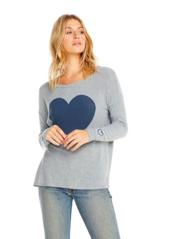 chaser chaser cozy knit l/s drop shoulder
