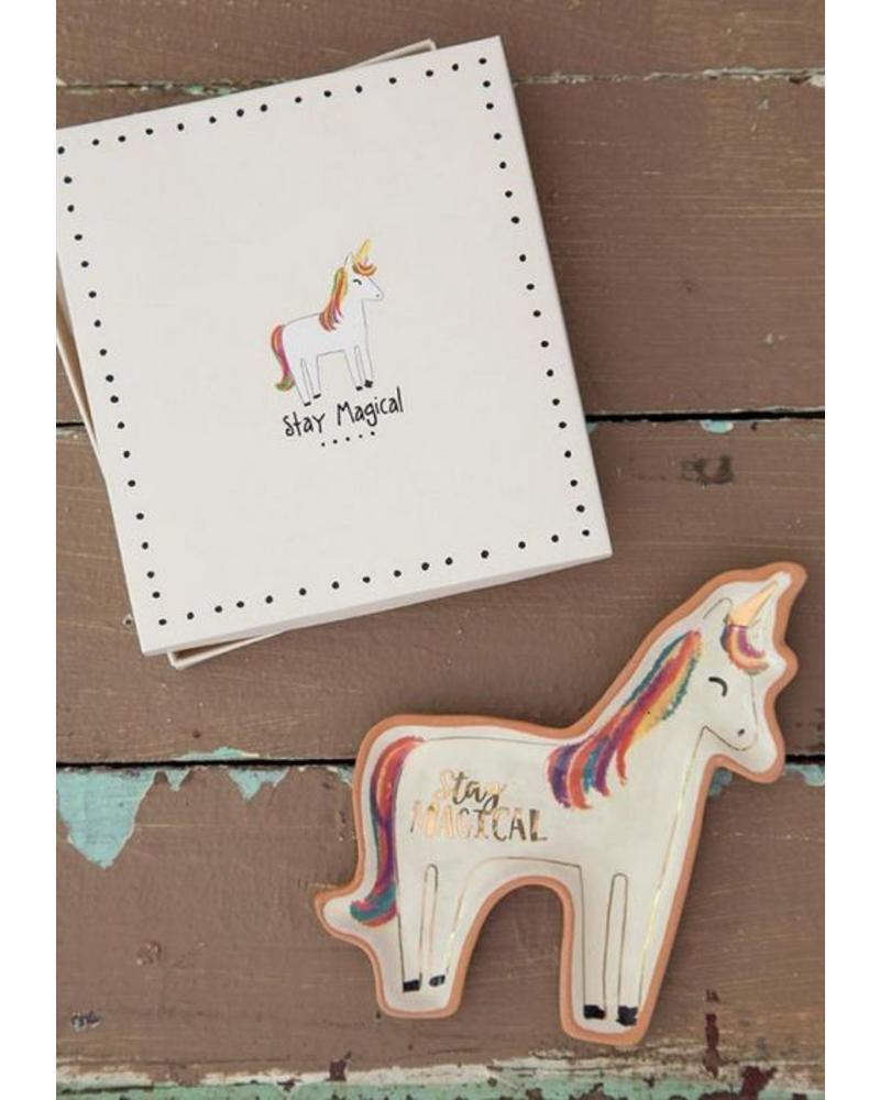 natural life natural life santa fe unicorn dish