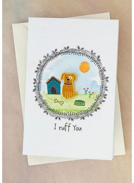 natural life i ruff you pin card