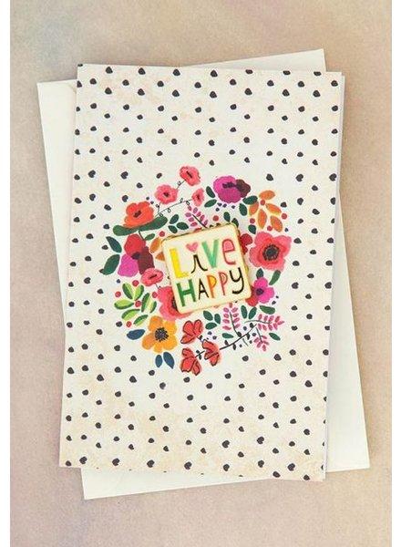 natural life live happy pin card