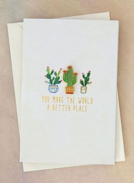 natural life world cactus pin card