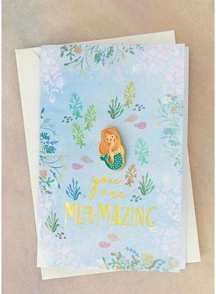 natural life mazing mermaid pin card