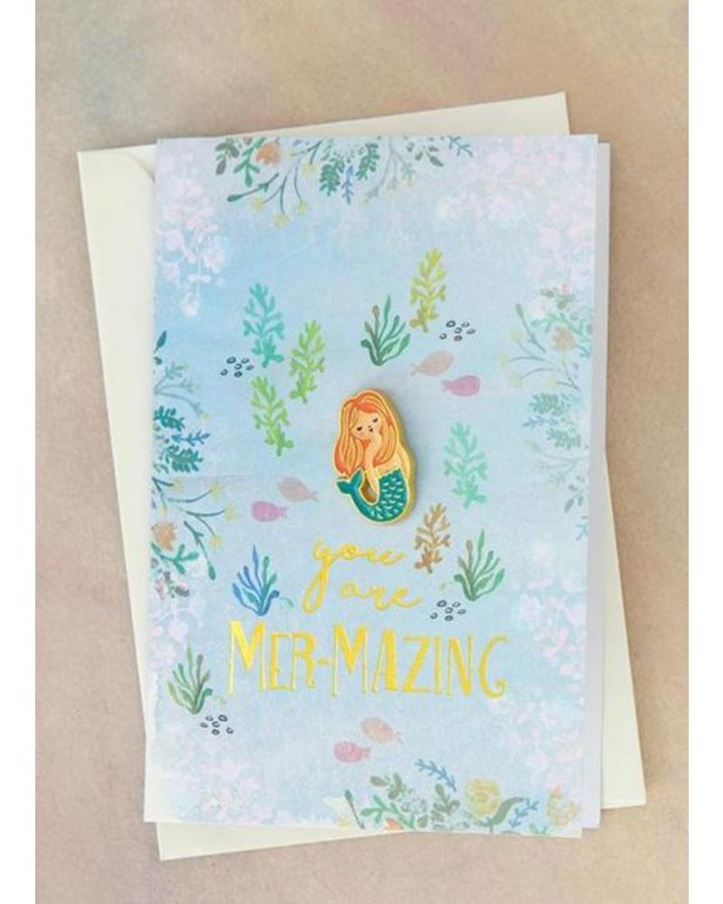 natural life natural life mazing mermaid pin card