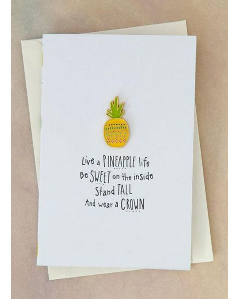 natural life natural life pineapple life pin card