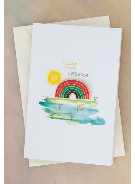 natural life dreams rainbow pin card