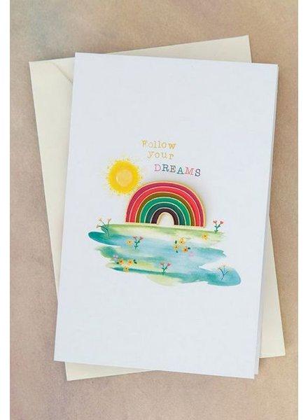 natural life dreams rainbow pin card
