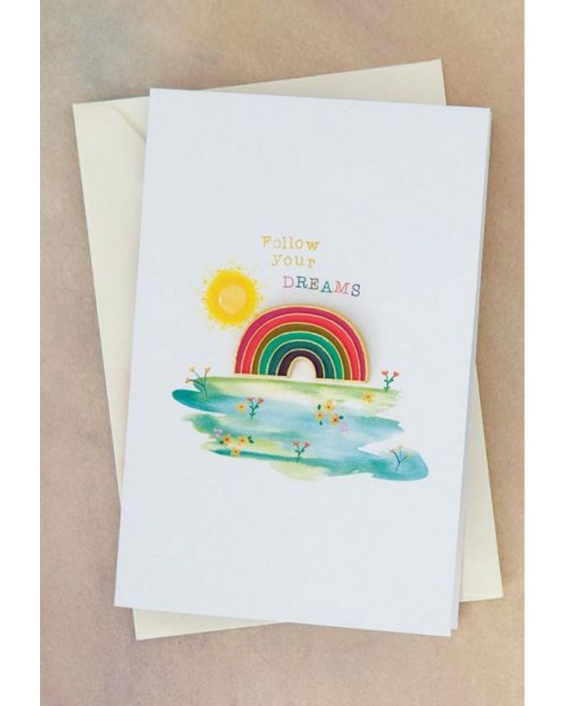 natural life natural life dreams rainbow pin card