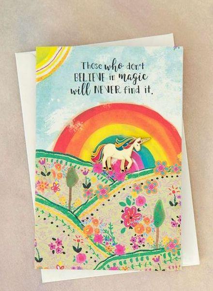 natural life unicorn pin card