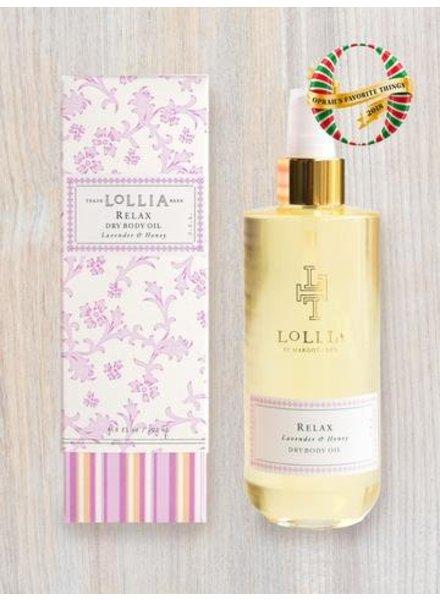 lollia relax dry body oil