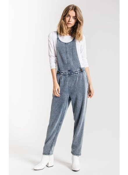 z supply knit denim overall