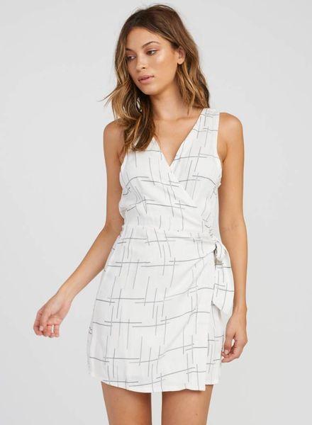 RVCA crossed off wrap dress