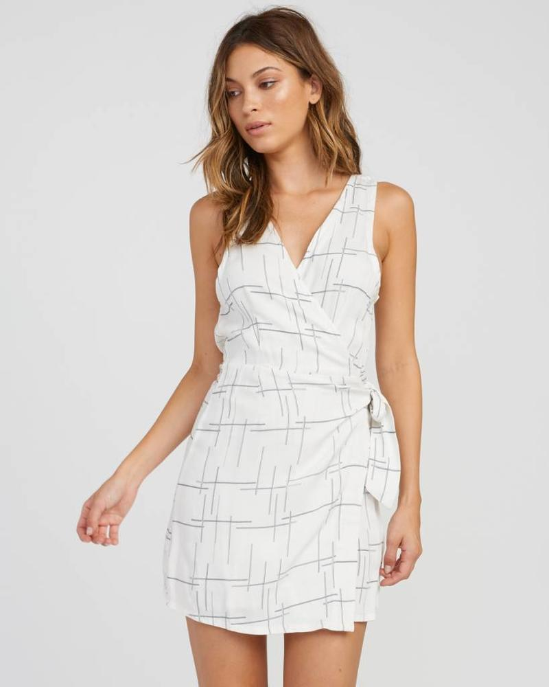 rvca rvca crossed off wrap dress