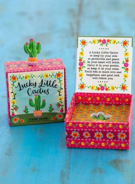 natural life cactus lucky charm