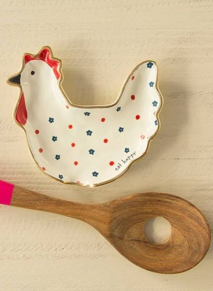 natural life chicken spoon rest