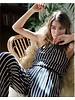 RVCA rvca hush striped jumpsuit