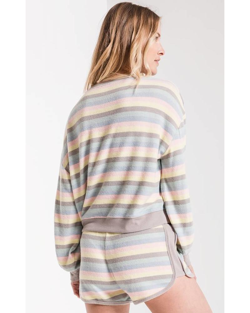 z supply z supply rainbow stripe pullover