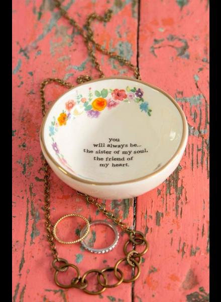 natural life sister friend trinket bowl