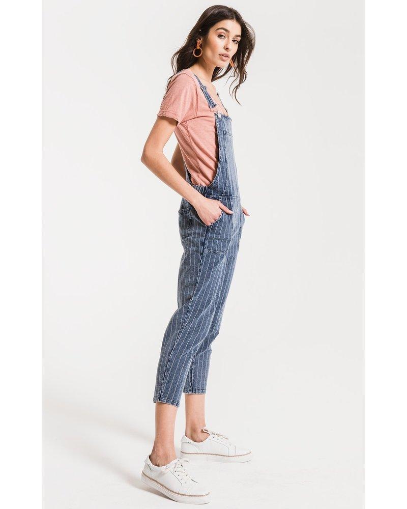 z supply z supply stripe knit denim overalls
