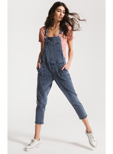 z supply stripe knit denim overalls