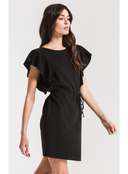 z supply solid ruffle dress