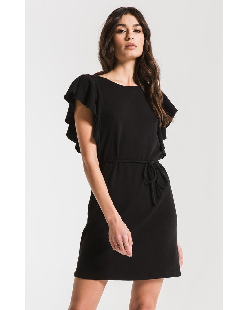 z supply z supply solid ruffle dress