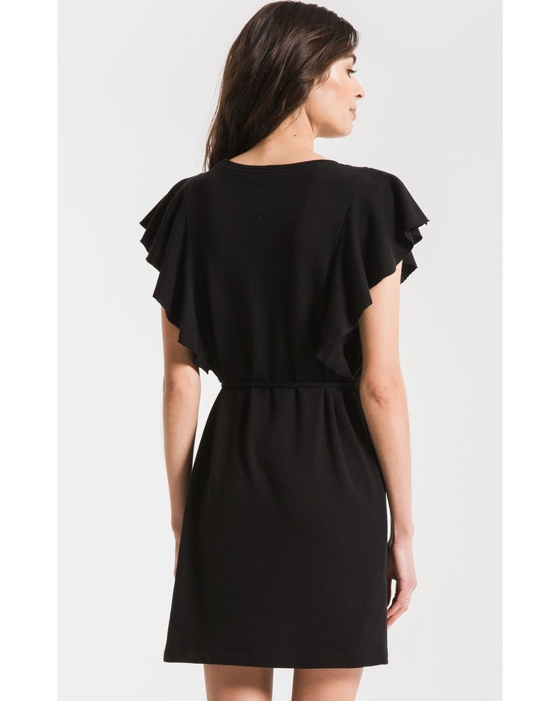 z supply z supply solid ruffle dress