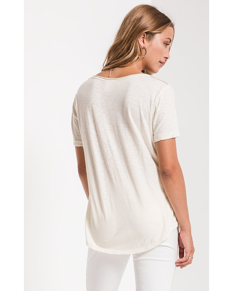 z supply z supply cotton slub v-neck tee