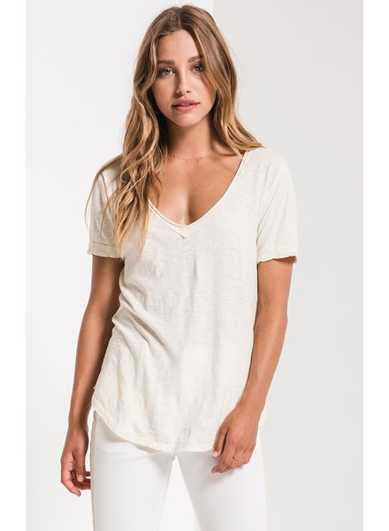 z supply cotton slub v-neck tee