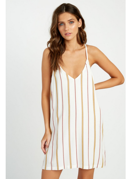 rvca fluke stripe dress