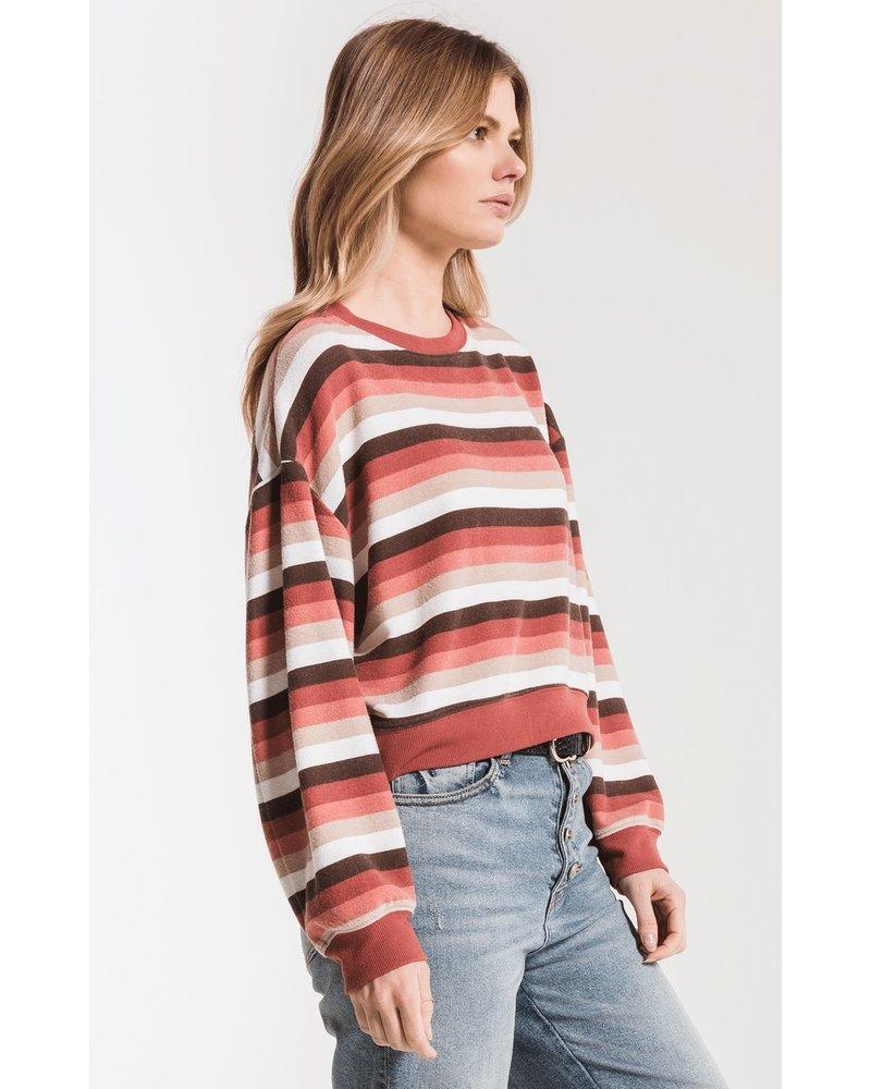 z supply z supply rainbow stripe pullover