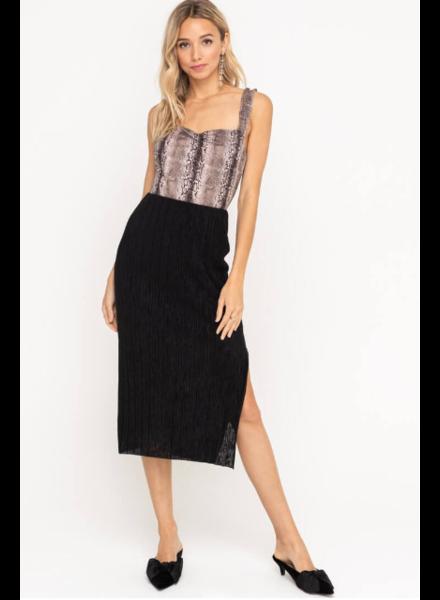 lush plisse skirt