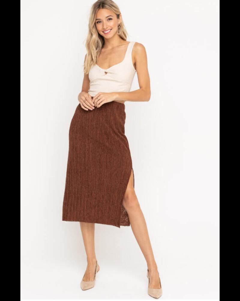 lush lush plisse skirt