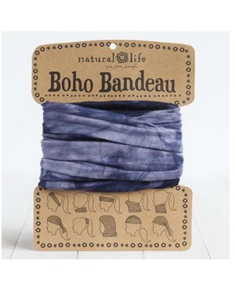natural life natural life boho bandeau tie-dye navy